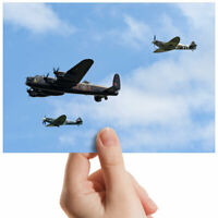 "Flying Lancaster Bomber Cool Small Photograph 6"" x 4"" Art Print Photo Gift #3413"