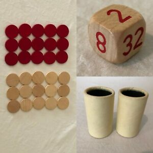 Backgammon Board Game Selchow Righter 1975 Replacement Parts Pieces Choice Cups