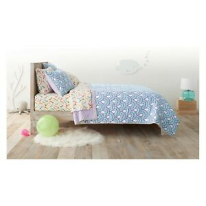 NWT Cool Scallop Quilt - Pillowfort Purple Teal Queen Twin