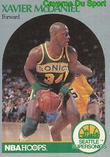 280 XAVIER McDANIEL SEATTLE SUPERSONICS CARD CARTE BASKETBALL NBA HOOPS 1990