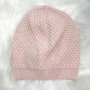 NWT J.Crew - Pale pink textured knit ski hat OS