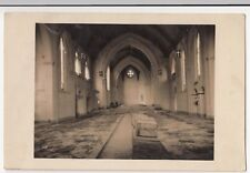 Unidentified Church Interior Scene, c WW2 RP PPC Unposted, Crates Marked Fragile