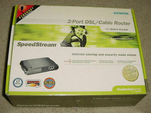 New Siemens SpeedStream 2-Port DSL Cable Wired Router
