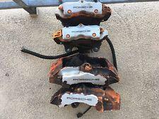 05 PORSCHE CAYENNE S 955 4.5L BRAKE CALIPER BREMBO FULL SET SILVER FRONT BACK