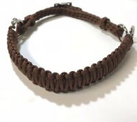 side pull hackamore attachment  brown bitless bridle hackamore...mini to draft