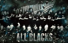 """002 All Blacks - New Zealand Rugby Team Art Sports 38""""x24"""" Poster"""