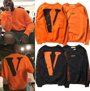 Herren Damen Vlone Freunde Style Big V Hoodie Sweatshirt Kapuzen Pullover Unisex