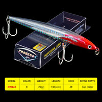 1PC Minnow Fishing Lure 13.3cm 29g Hard Bass Bait Floating Swimbait Trout Tackle