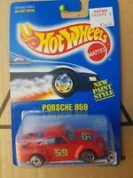 HOTWHEELS 1991 BLUE CARD PORSCHE 959 [RED] COLLECTOR CLUB CARD VARI. VHTF NM