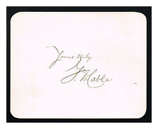 George Washington Cable Autograph on a Card!  Extra-Fine! Authentic!
