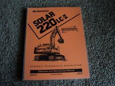 Daewoo Solar 220LC-III 220 LC III 3 Excavator Owner Operation Maintenance Manual