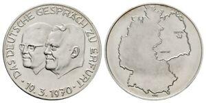 Old East German Medal anlässlich Gespräch in Erfurt Willy Stoph & Willy Brandt