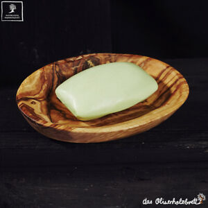 Soap Dish from Olive Wood Small Bowl Oval With Holes