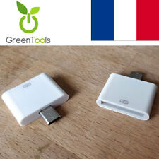 Adaptateur chargeur iPhone / iPad / iPod 30 broches femelle vers Micro USB Mâle