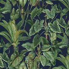 Paradisio Tropical Jungle Plants Leaves Erismann Wallpaper - Blue 6303-08