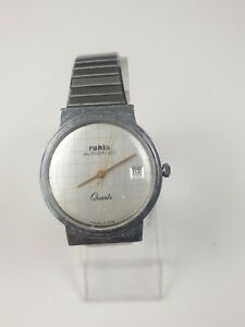 Ruhla Eurochron Quartz Vintage Armbanduhr Herrenuhr
