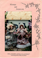 "Country Ladies Collection Sewing Craft Doll Pattern A108 ""Victoria & Jacqueline"""