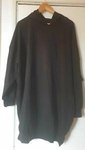 Asos Design Oversized Hoodie Dress in Black UK Size 14