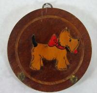 Vintage Scottie Dog Key Holder Wooden Wall Plaque