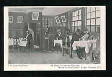 LONDON Fleet St Ye Olde Cheshire Cheese Wine Office Court pre1919 PPC