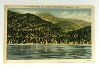 Adirondack Mountains Mt McIntrye From Lake Colden Linen Vintage Postcard