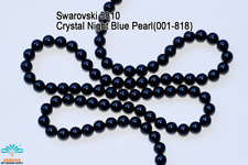 50 Beads Swarovski #5810 Crystal Night Blue Pearl 001-818