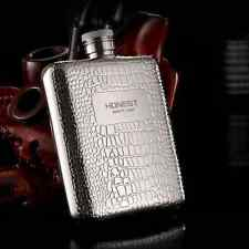 HONEST Carved Portable 6OZ High Quality 304 Stainless Steel Hip Flask Gift Box