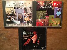 Al Di Meola [3 CD Alben] Kiss My Axe + World Sinfonia + Heart of the Immigrants