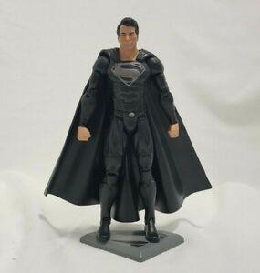"DC Mattel Movie Masters Man of Steel BLACK SUIT SUPERMAN 6"" Action Figure"