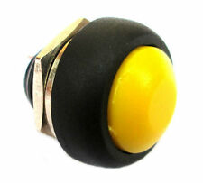 New 12mm Yellow OFF (ON) Push Button Horn Switch Horn Button fu