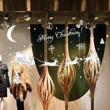 Christmas Santa Reindeer Removable Vinyl Decal Decor Wall Sticker Glass Window