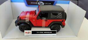 Maisto Jeep Wrangler Willy's Red 1:18 Diecast Car