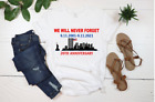September 11 T Shirt, 9 11 Never Forget, 20 Year Anniversary Patriotic Tee