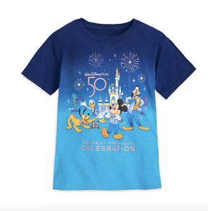 Walt Disney World Mickey Mouse 50th Anniversary T-Shirt For Adults Size M