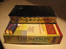 KJV Thompson Chain-Reference Bible Black Large Print Genuine Leather Indexed