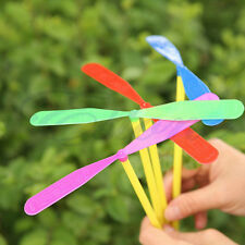 10pcs Plastic Bamboo Dragonfly Propeller Outdoor Toy Children Kids Gift Flying
