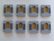 8  New Lego City Town Castle Ship House Window Bricks + Gold Panes Bulk Lot Set