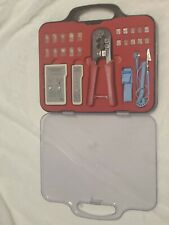 Ethernet Cable Tester Kit with Crimper Tool