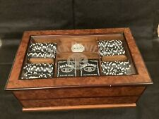 """""""Extremely Rare"""" Jack Daniels Clay Poker Chip Set and Glass Display Case"""