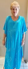 Long Kaftan Dress Classic Boho Embroidered & Sequined Plus Size 24-34 New