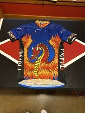 Primal Wear Men Chinese Dragon Cycling Jersey Asian Heat Stroke Bicycle Shirt M