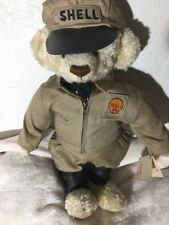 SHELL KIDS BEAR OIL GAS STATION COLLECTIBLE STUFFED ANIMAL CLOTHING