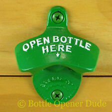 Light Green OPEN BOTTLE HERE Powder Coated Starr X Wall Mount Bottle Opener, NEW