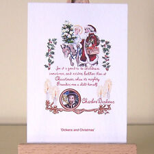 Vintage illustration A Christmas Carol ACEO Card Holiday Art Charles Dickens