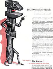 Boris Artzybasheff Monkey Wrench THE TRAVELERS INSURANCE COMPANY 1950 Print Ad