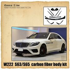 W222 S63/ S65 carbon fiber parts for MB W222 S63 S65 front+side+rear+mirror cove
