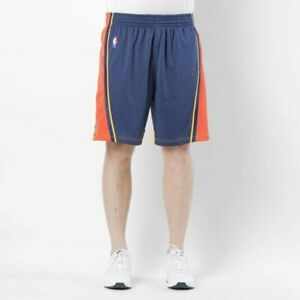Mitchell & Ness Golden State Warriors 2009-10 Road Navy Orange Swingman Shorts