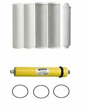 Replacement Water Filters for WP5-50 Reverse Osmosis System w/ 50 GPD Membrane 5