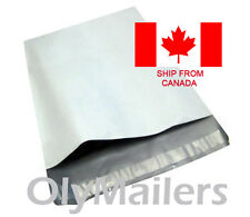 100 9x12 Poly Mailers Self-Sealing Bags White Plastic Shipping Envelopes CANADA
