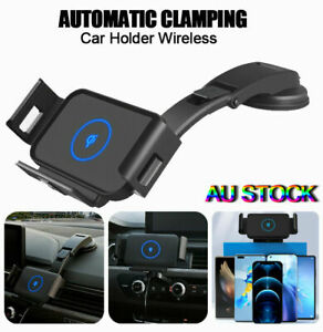 Car Mount Holder Wireless Charger For Samsung Galaxy Fold Automatic Clamping